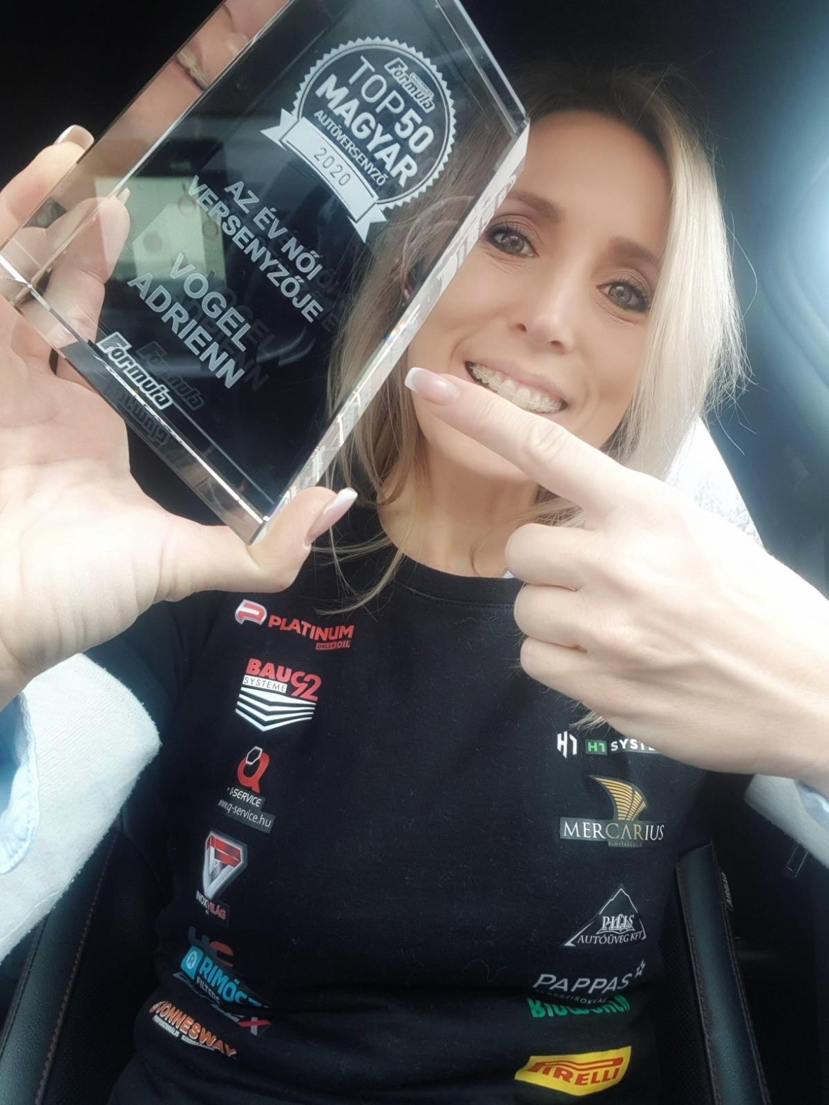 Vogel Adrienn Az Év női autóversenyzője